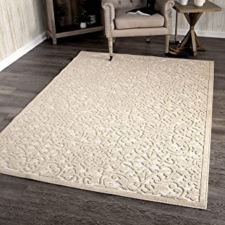 """product image for Orian Rugs Boucle Collection 397154 Indoor/Outdoor High-Low Biscay Area Rug, 5'2"""" x 7'6"""", Driftwood Beige"""