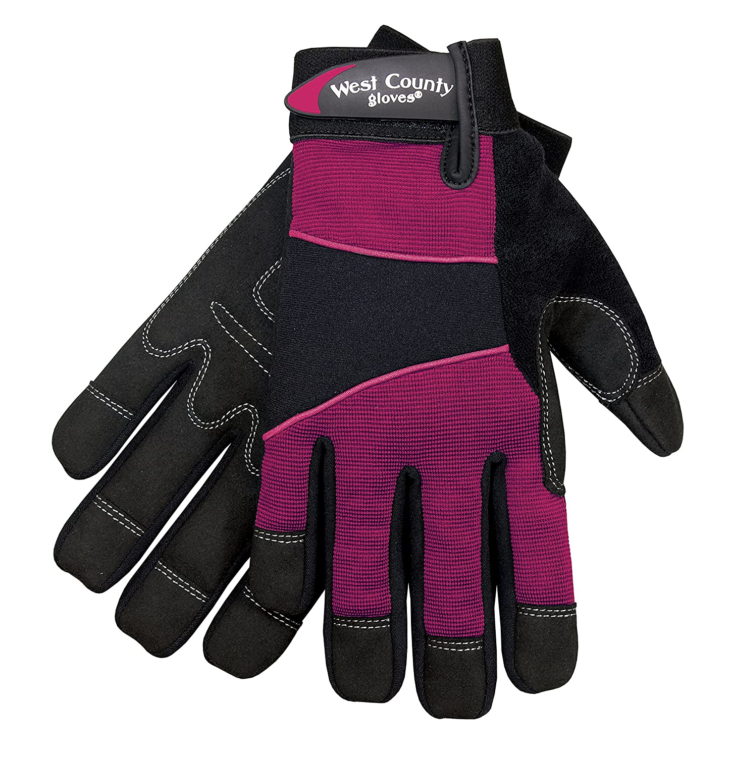 Safety Works 012F/S West County Womens Work Glove, Small, Berry