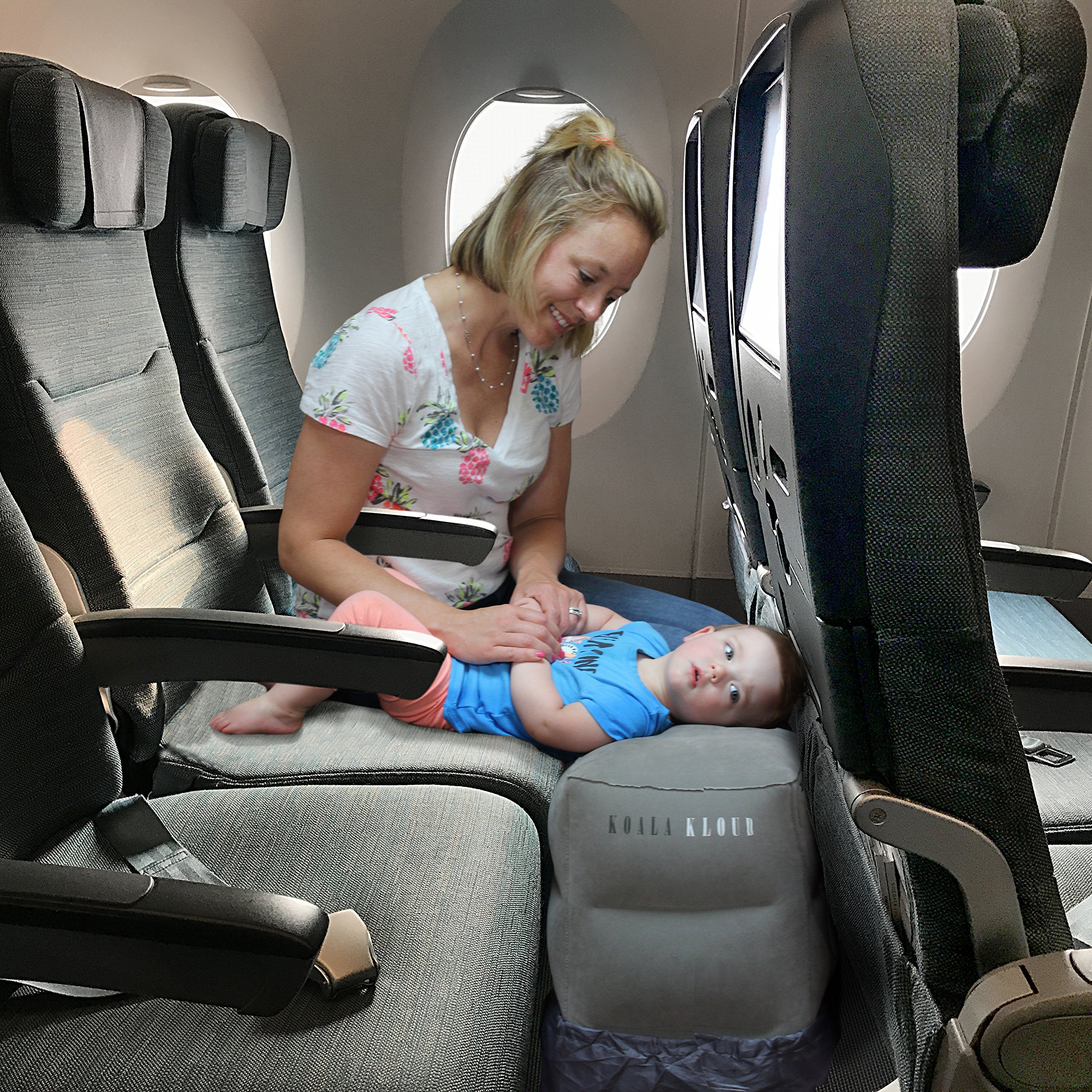 Inflatable Foot Rest Travel Pillow - For Toddlers & Kids, Best Accessory and Gadget for Traveling By Airplane or Car, Use As A Footrest Stool Under Office Desk, Fly With Your Legs Up - By Koala Kloud by Koala Kloud (Image #5)