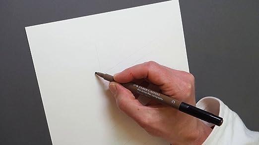Tuschestift Pitt artist pen Strichst/ärke SC Faber-Castell 167892 schwarz Farbe 199