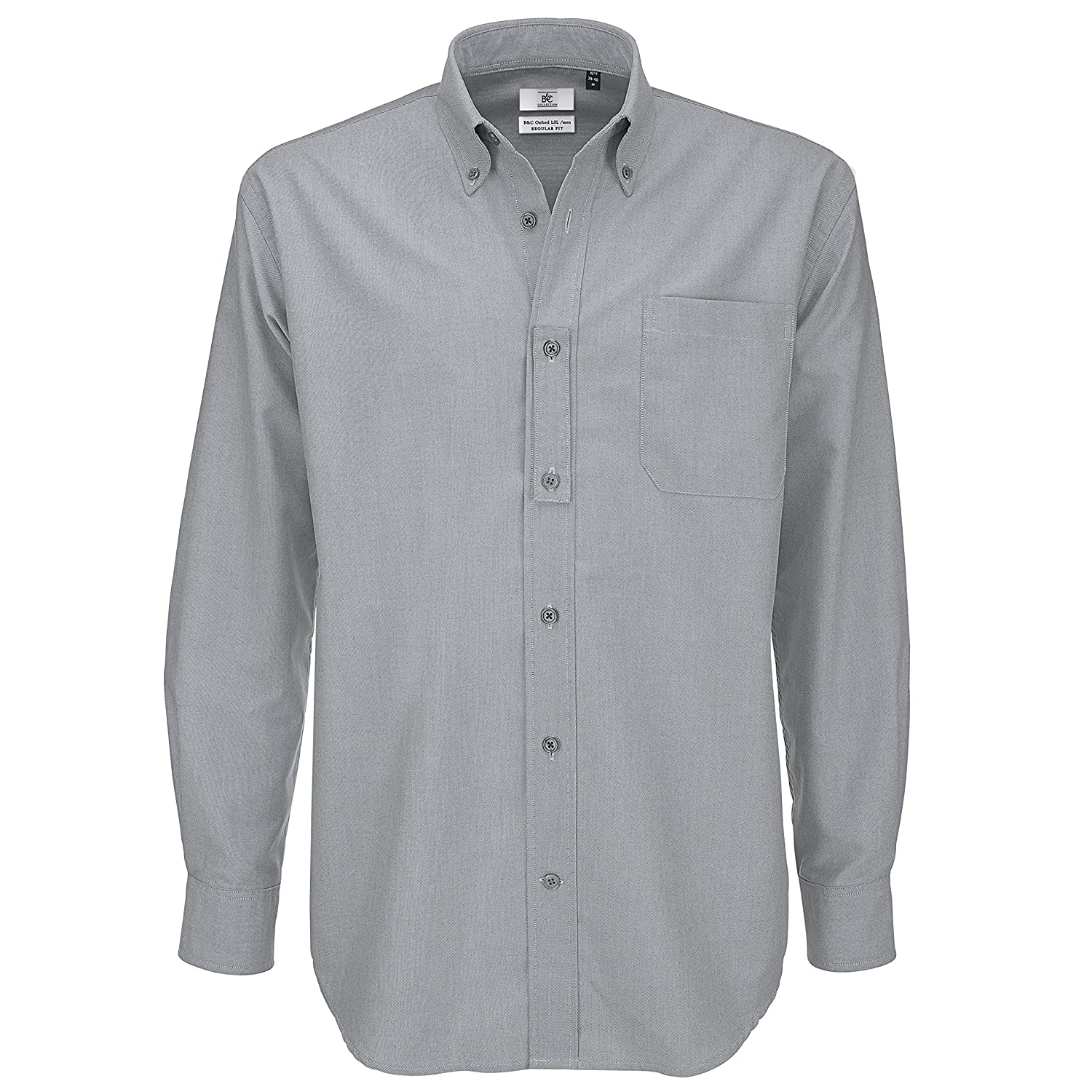 B&C Oxford Long Sleeve Mens Shirt Sizes Up To 21