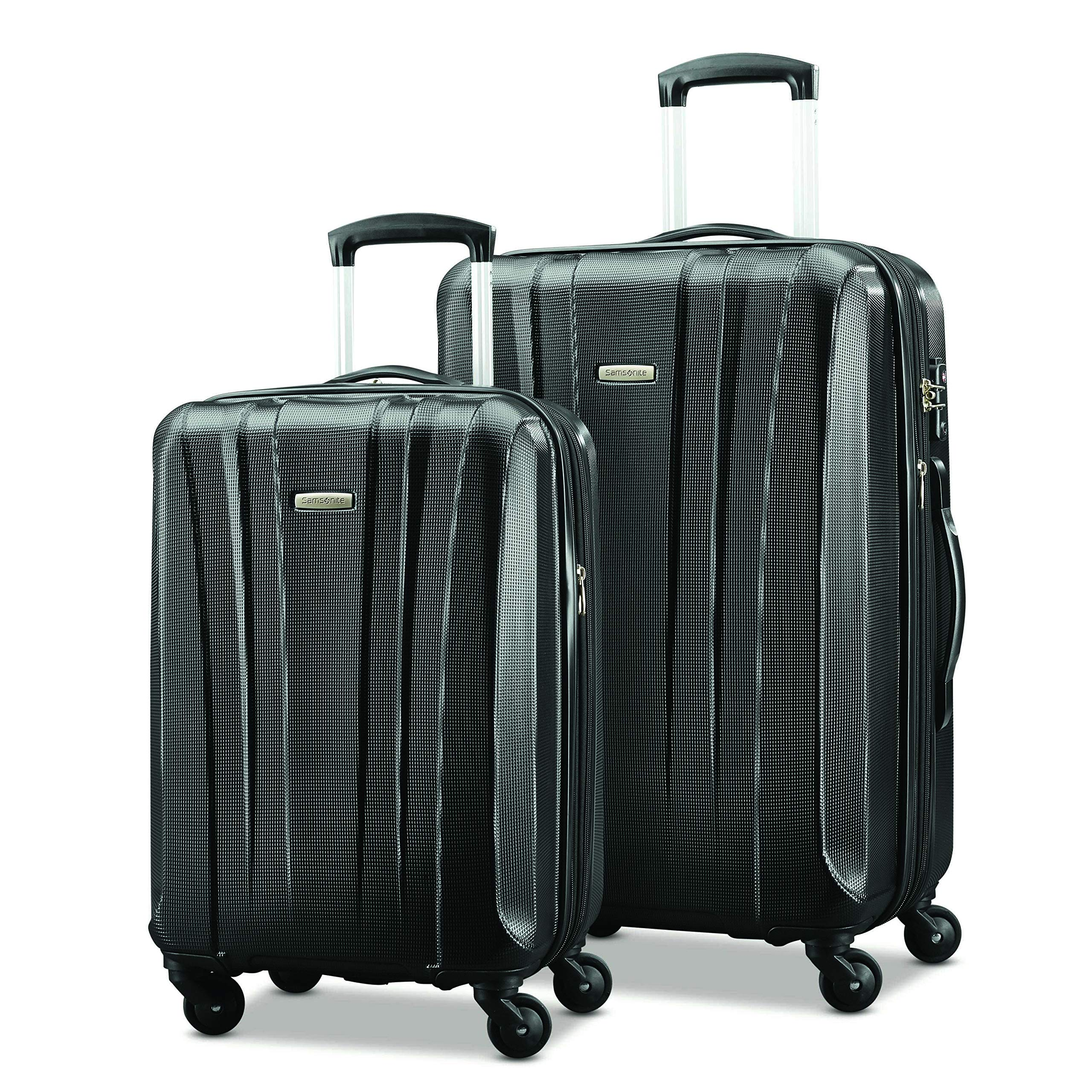 Samsonite Pulse Dlx Lightweight 2 Piece Hardside Set (20''/28''), Black, Exclusive to Amazon