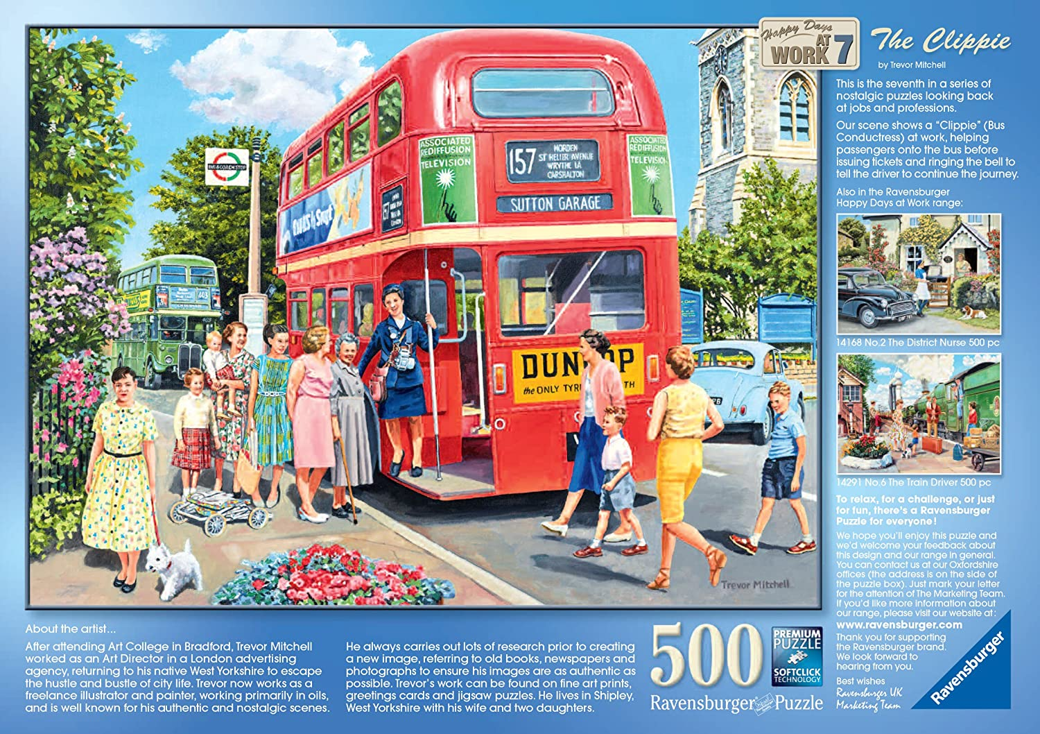 500 Piece Happy Days At Work The Clippie Puzzle
