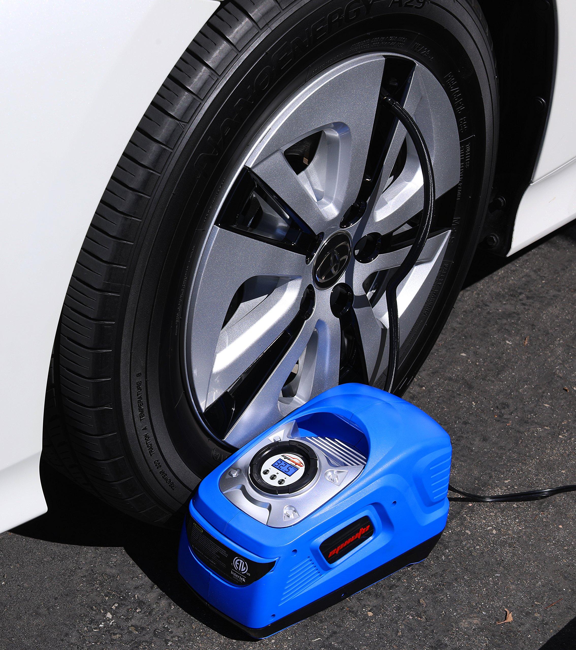 EPAuto AC 110V / DC 12V Dual Power Portable Air Compressor Pump w/Digital Tire Inflator, Support for Cigarette Lighter Socket (12V) and Home Outlet (110V) by EPAuto (Image #4)