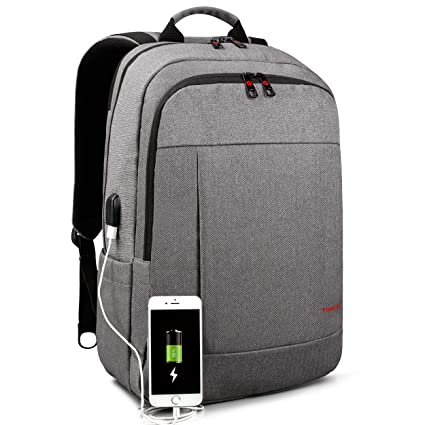 112614a5a2 Tigernu Business Waterproof Laptop Backpack with USB Charging Port Computer  Rucksack Anti-Theft Water Resistant