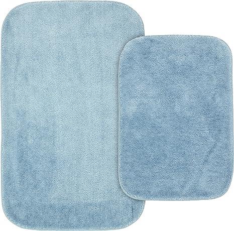 2-Piece Garland Rug Traditional Bath Rug Set Blush