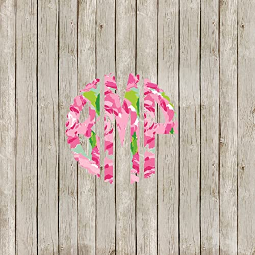 0bcecb3d1f3 Image Unavailable. Image not available for. Color: Scallop Circle Yeti  Tumbler Lilly Pulitzer Monogram Decal