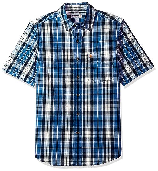 149fefd1e75 Carhartt Men's Essential Plaid Button-Down Short Sleeve Shirt
