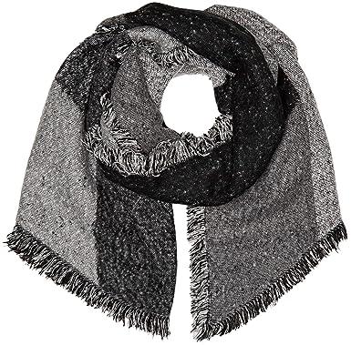 9809f75977ad Levi s ASSYMETRICAL FRINGE WRAP Echarpe Femme Gris (Noir Regular Grey 55)  Taille unique (