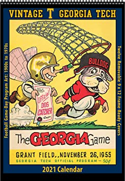 Amazon.: 2021 Vintage Georgia Tech Yellow Jackets Football