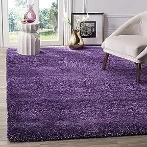 Safavieh Milan Shag Collection Sg180 Solid 2 Inch Thick Area Rug 10 X 14 Purple Furniture Decor Amazon Com