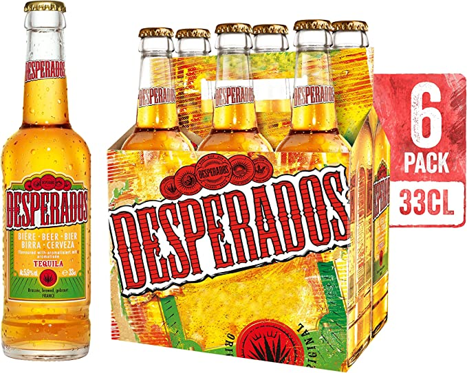 Desperados Cerveza - Pack de 6 botellas x 330 ml (Total: 1.98 L ...