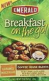 Emerald Breakfast On The Go! Nut & Granola Mix Coffee House Blends Caramel Macchiato - 5 ct