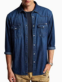 Jack & Jones Oakland Western Denim - Camisa Slim fit de Manga Larga para Hombre, Talla S, Color Vaquero Oscuro (Dark Blue Denim): Amazon.es: Ropa y accesorios