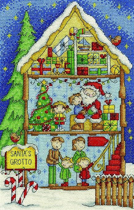 """DMC Creative world """"La Caseta de Papá Noel de Navidad Interior Kit de Punto"""