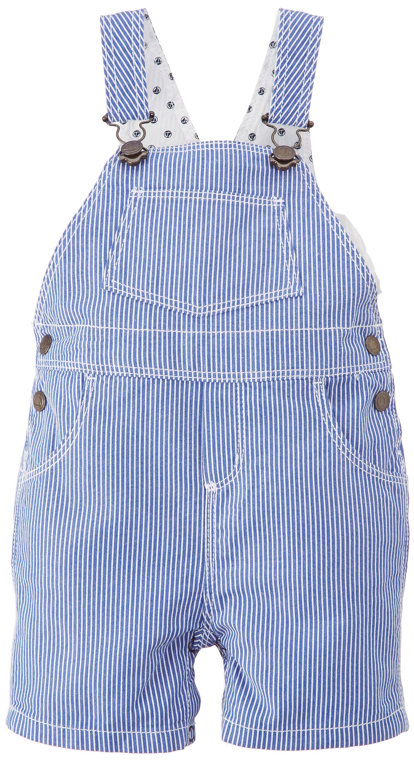 Petit Bateau Little Boys' 'Forcing' Striped Overalls (Baby) - Blue/White - 24 Months