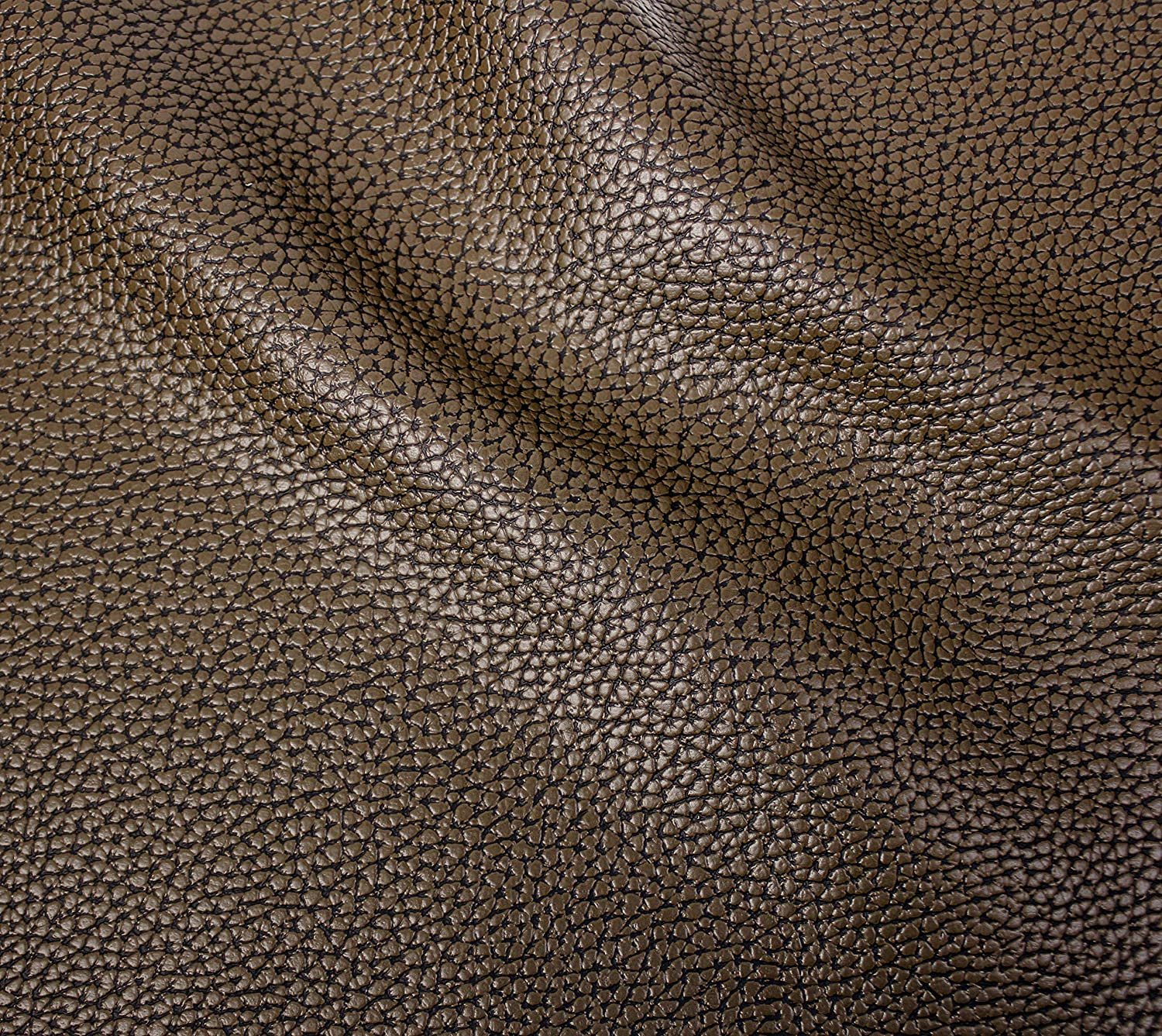 10ft x 54 VViViD Bycast65 Brown Correct-Grain Faux Leather Marine Vinyl Fabric