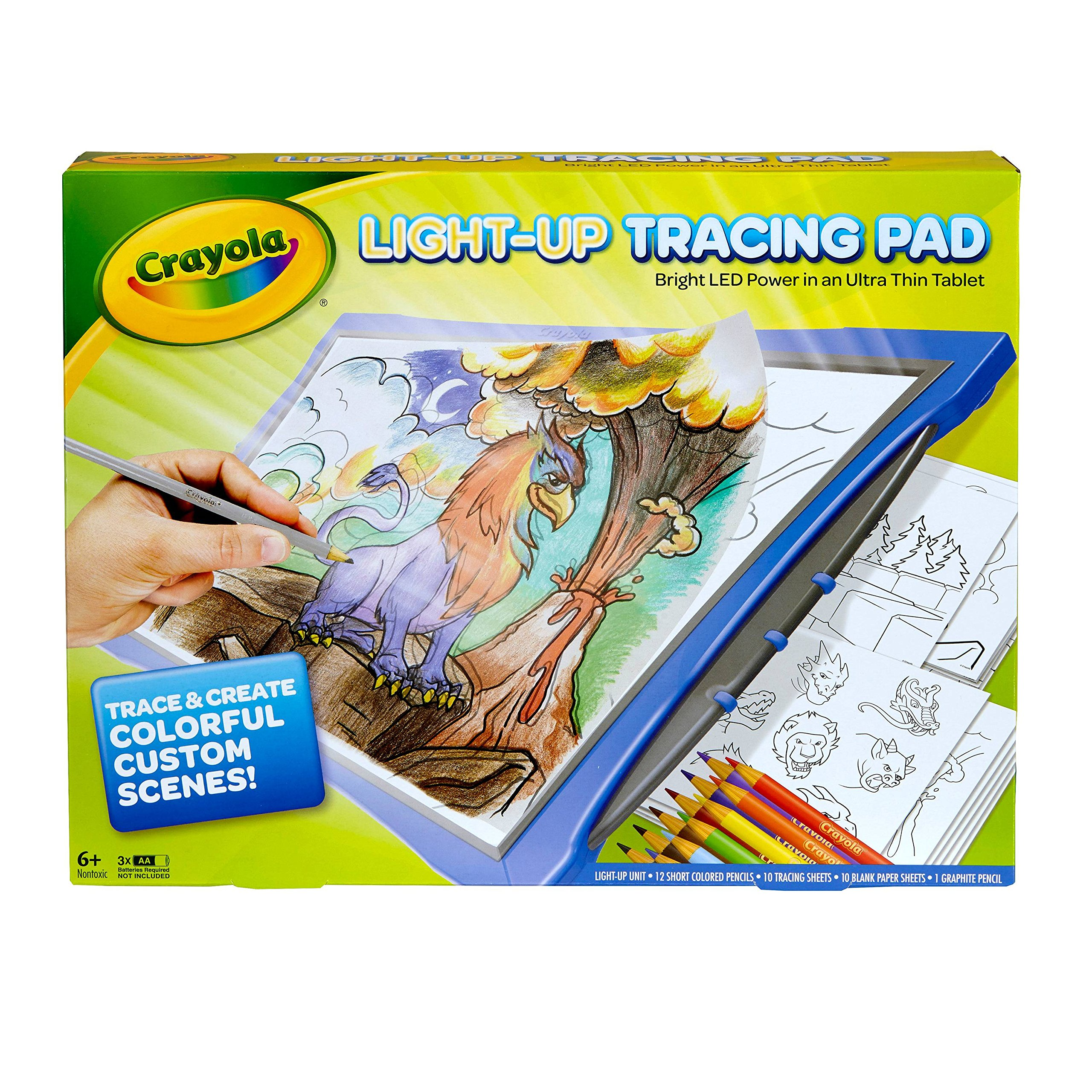 NEWEST MODEL Crayola Light Up Tracing Pad - BLUE -BRIGHT LED POWER in an Ultra Thin Tablet by Crayola (Image #2)