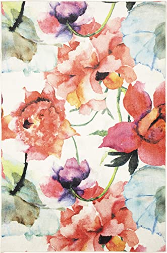 Mohawk Watercolor Bouquet Area Rug