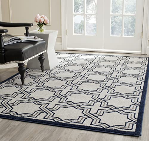 Safavieh Amherst Collection AMT413M Geometric Area Rug, 6 x 9 , Ivory Navy