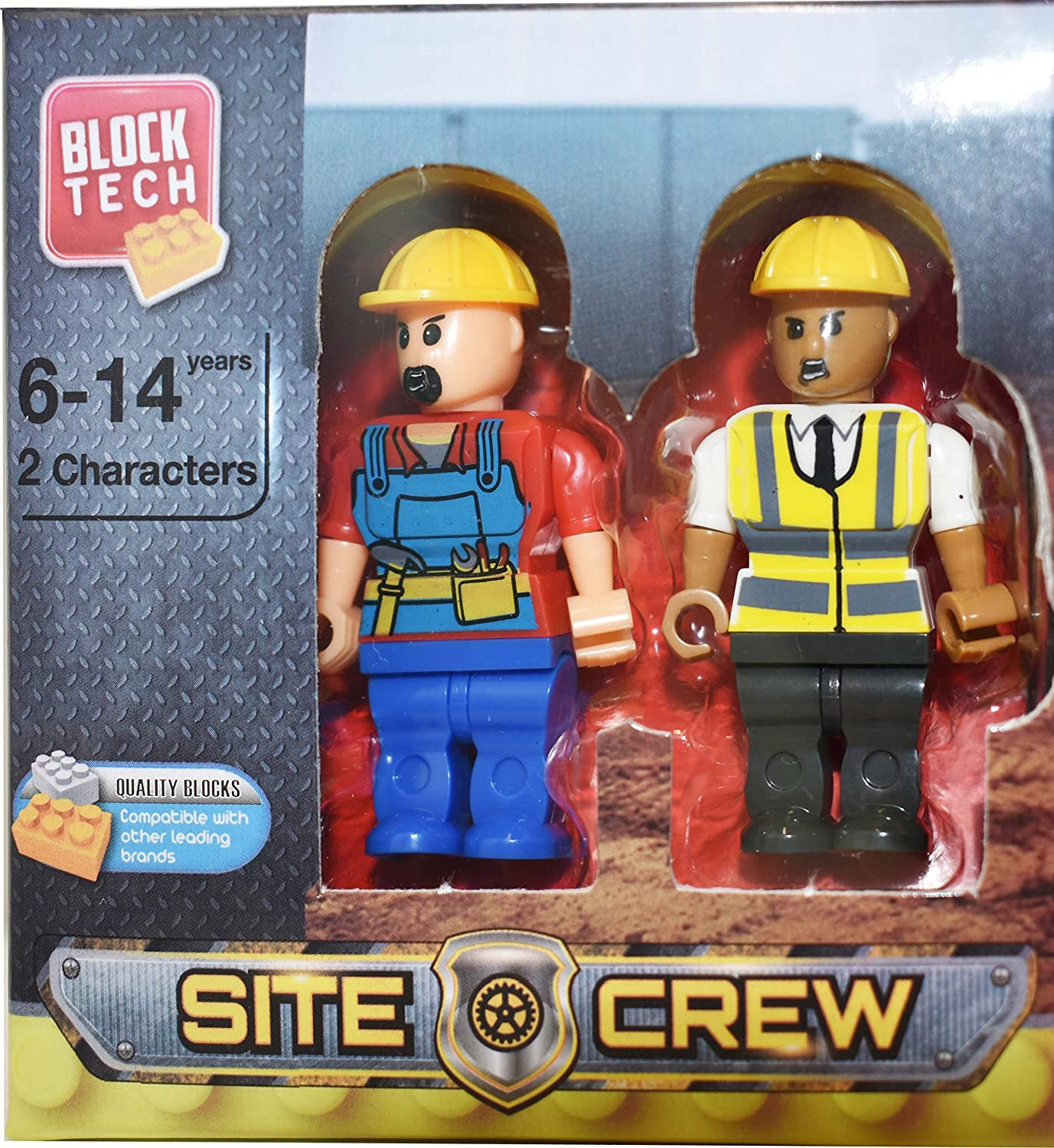 Block Tech Figures Lot of 4 PEOPLE 2PK  COMPATIBLE w//OTHER BRANDS 2