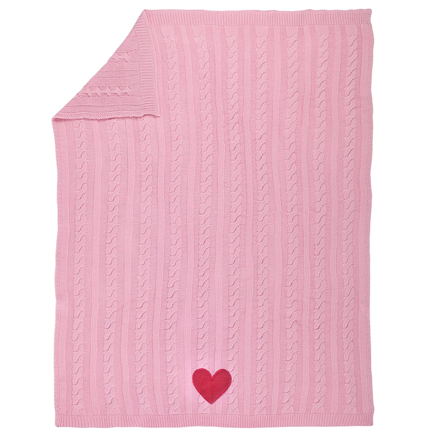 Amazon Com Sadie Scout Chelsea Pink Knit Blanket With Heart Baby
