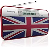 Philips AE2012/05 DAB+ Portable Radio with classic Union Jack design