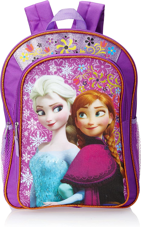 "Girls Disney Frozen Anna Elsa Small 12/"" Backpack Blue Purple"