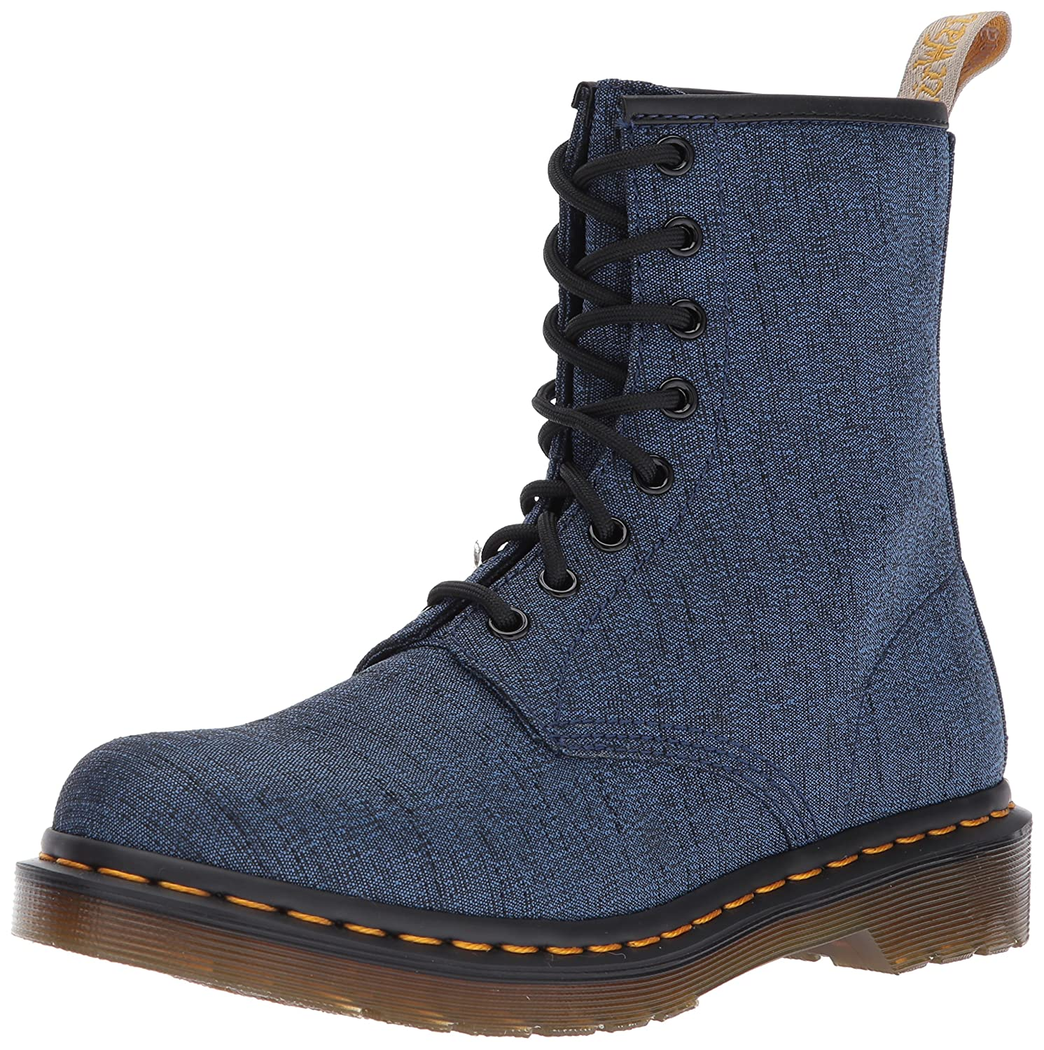 Dr. Martens Women's Vegan Castel Indigo Fashion Boot B01MS2JNYH 8 Medium UK (10 US)|Indigo