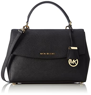 ad3f732fdeaa75 Amazon.com: MICHAEL Michael Kors Satchel - Ava Medium Top Handle, Black:  Shoes