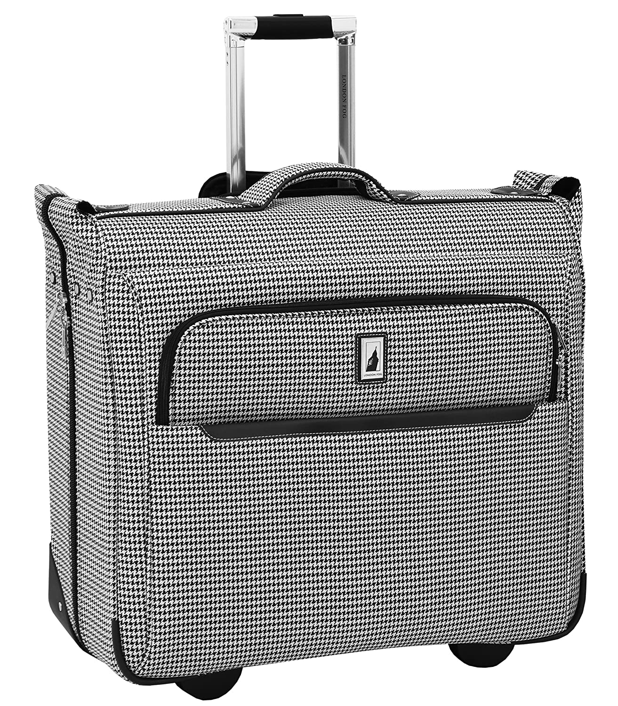 London Fog Cambridge II 44 Wheeled Garment Bag, Olive Houndstooth Leisure Merchandising 9044