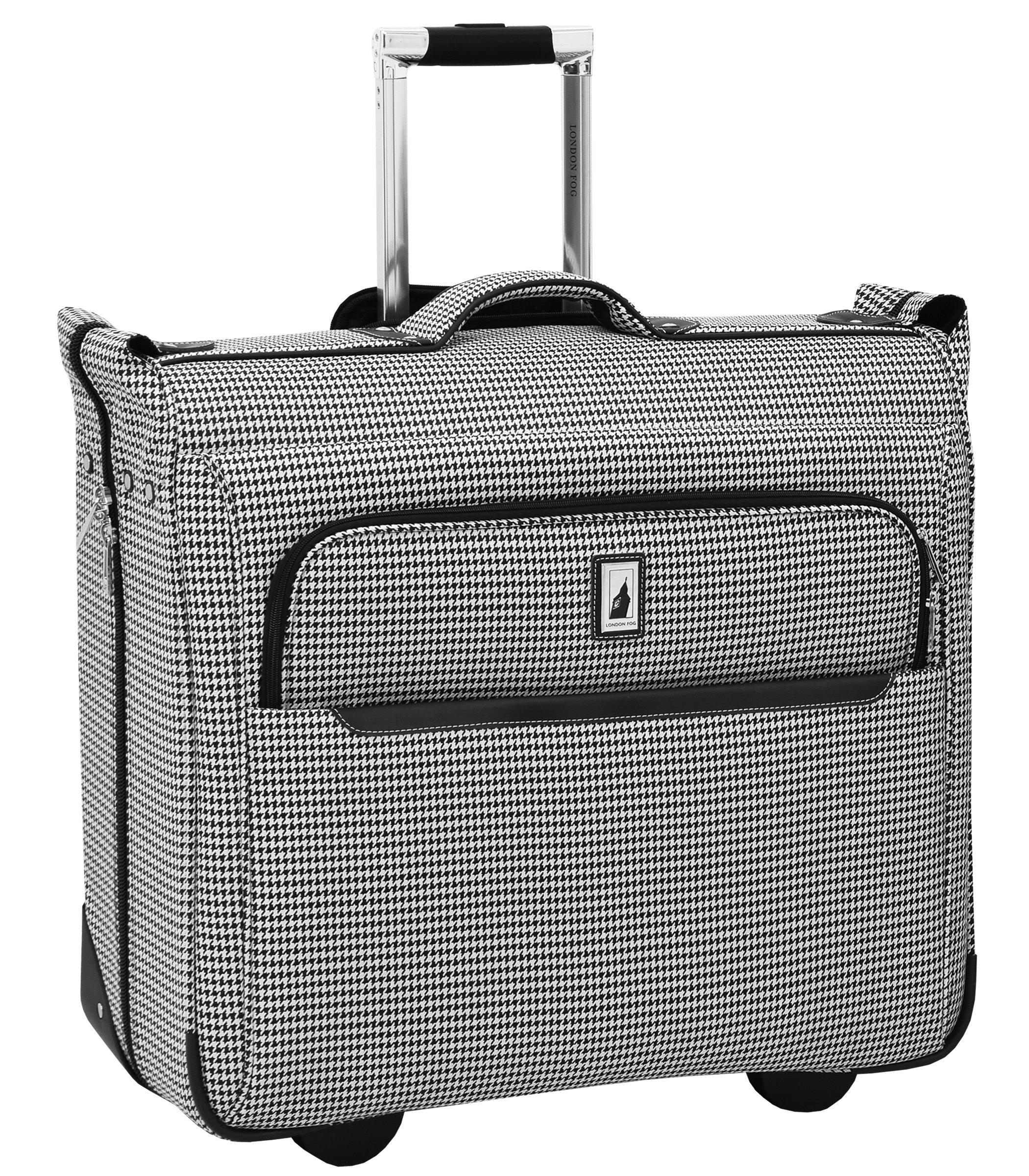 London Fog Cambridge II 44'' Wheeled Garment Bag, Black White Houndstooth