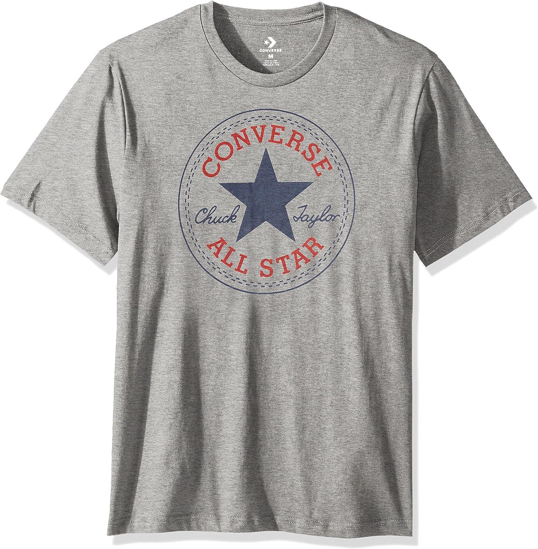 Converse Chuck Patch Tea Men´s T-Shirt Gray: Amazon.es: Ropa y ...