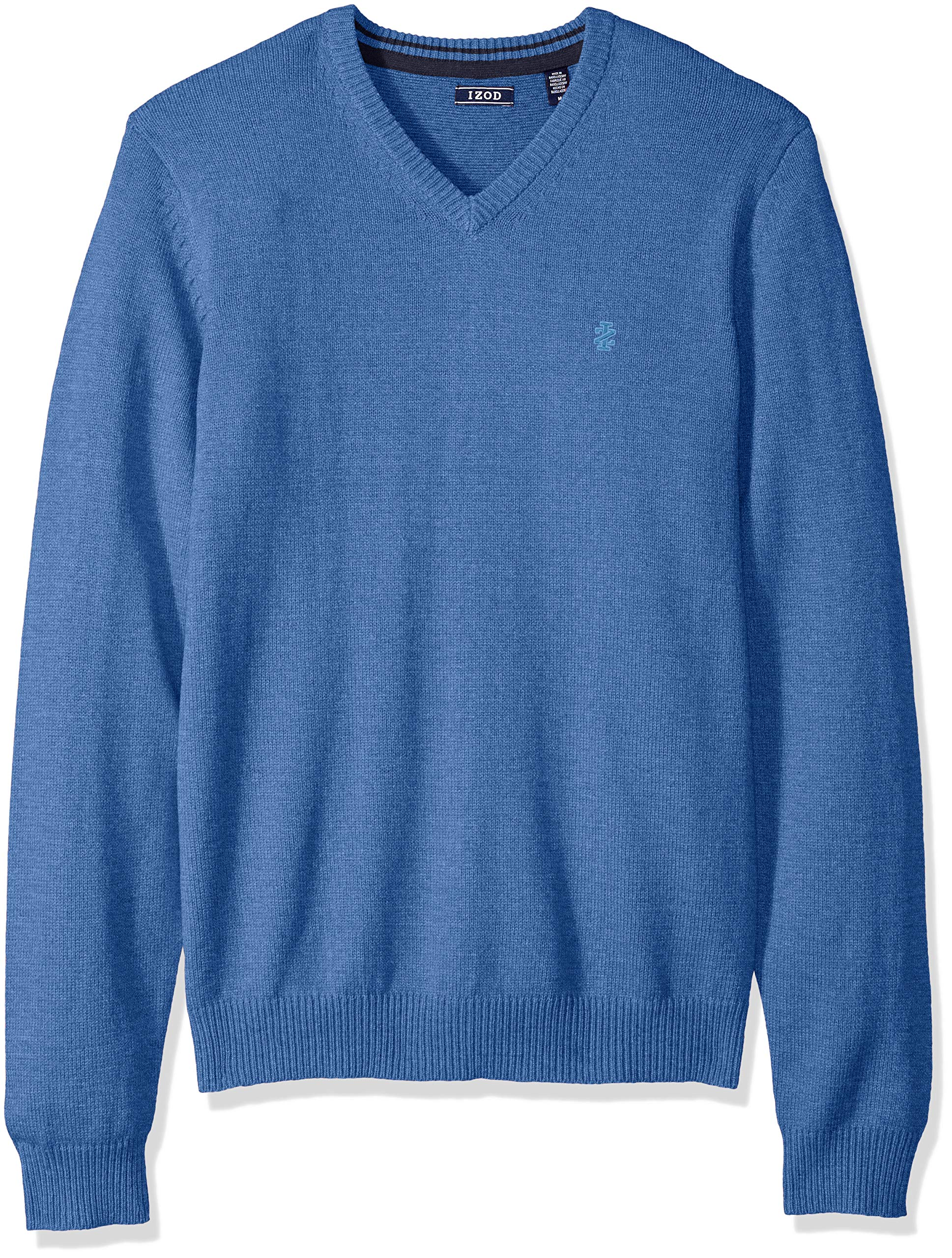 IZOD Mens Premium Essentials Solid V-Neck 12 Gauge Sweater