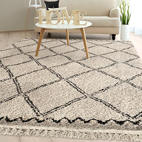 Orian Rugs Bedouin Collection 5001 Desert Trellis Area Rug with Fringe, 7 10 x 10 10 , Off-White