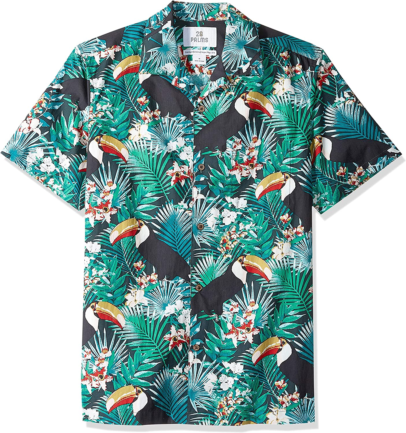 Marchio 28 Palms Standard-Fit 100/% Cotton Tropical Hawaiian Shirt Uomo