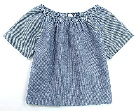 cd33ee378d Amazon.com: J. Crew - Girls - Chambray Striped Shirt (Multiple (4-5 ...