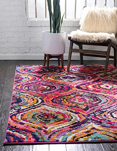 Unique Loom Estrella Collection Colorful Abstract Multi Area Rug 10 6 x 16 5