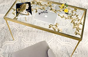 Safavieh Home Collection Rosalia Butterfly Desk, Antique Gold
