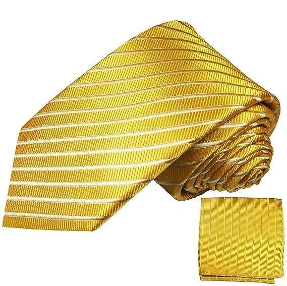 P. M. Krawatten - Corbata - Rayas - para hombre dorado dorado ...