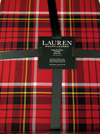 Delicieux Ralph Lauren Gretchen Tartan Plaid Tablecloth Red 60 X 84
