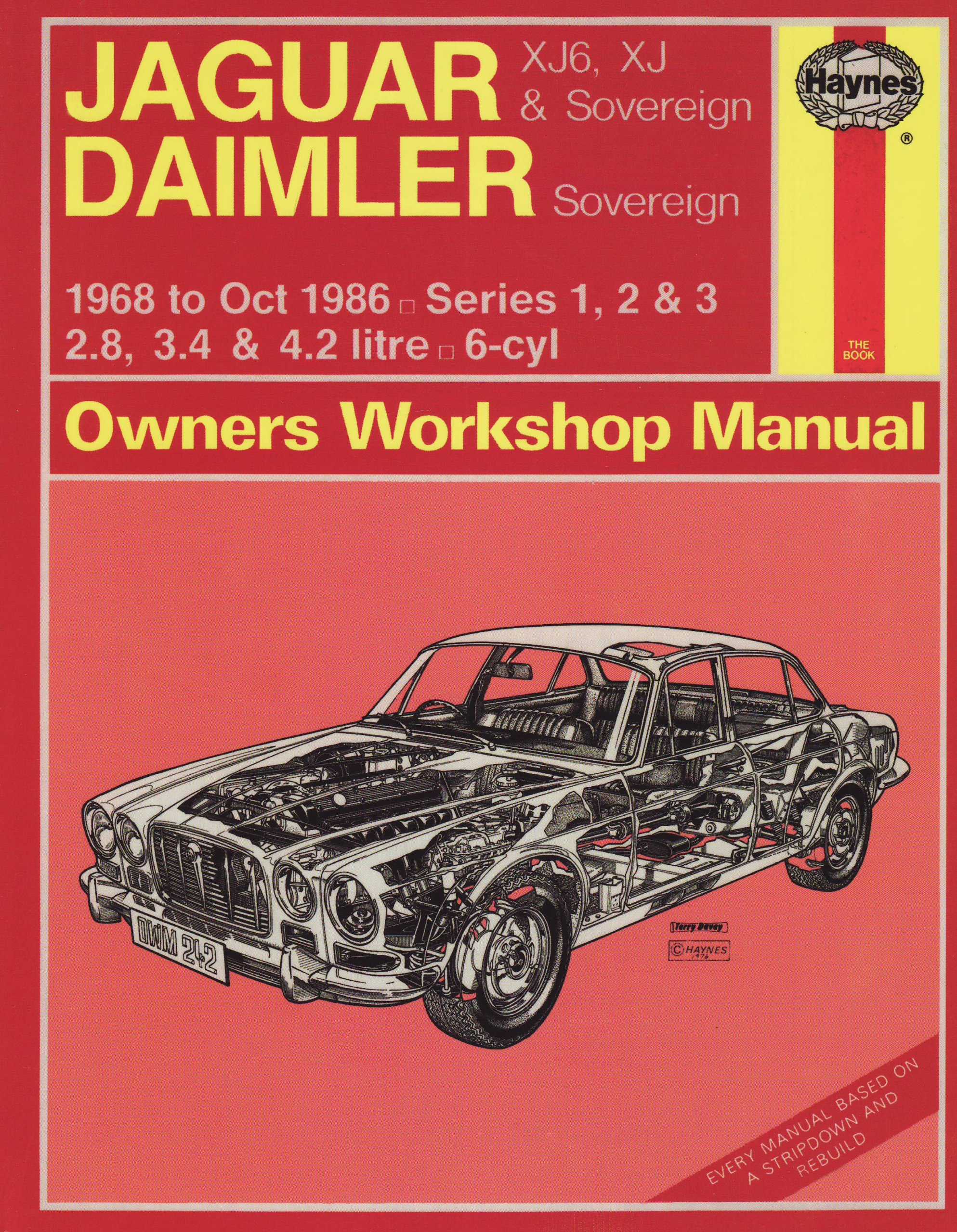 Jaguar XJ6 and XJ Sovereign/Daimler Sovereign 1968-86 Series 1, 2 and 3  Owner's Workshop Manual (Service & repair manuals): Amazon.co.uk: J. H.  Haynes, ...