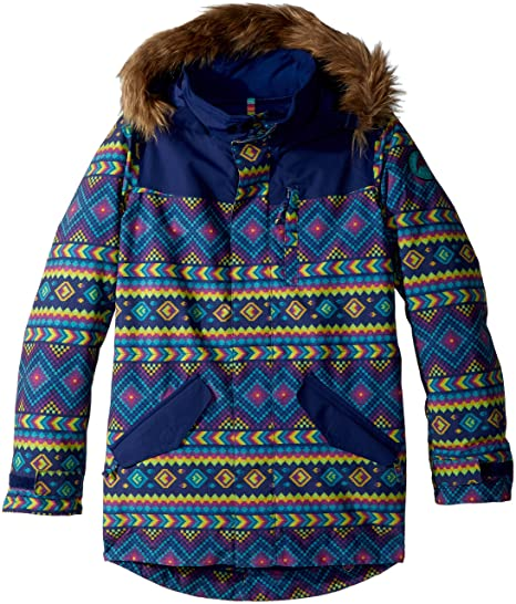 d26fe3f6 Burton Youth Girls Aubrey Parka Jacket, Bohemia/Spellbound, Small