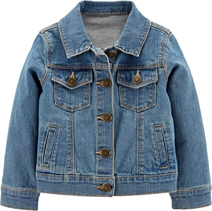 Carters Girls Denim Button Front Jacket