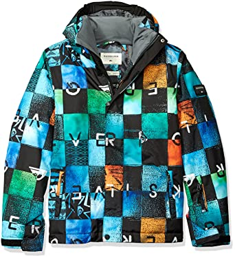aa2737ed7 Quiksilver Boys  Big Mission Printed Youth Snow Jacket
