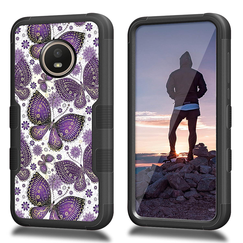 competitive price cf730 2026e Moto E4 Case, CASECREATOR[TM] For Motorola Moto E4/XT1767 (Verizon, Sprint,  Boost Mobile)~NATURAL TUFF Hybrid Case BB-Geese and Footprints