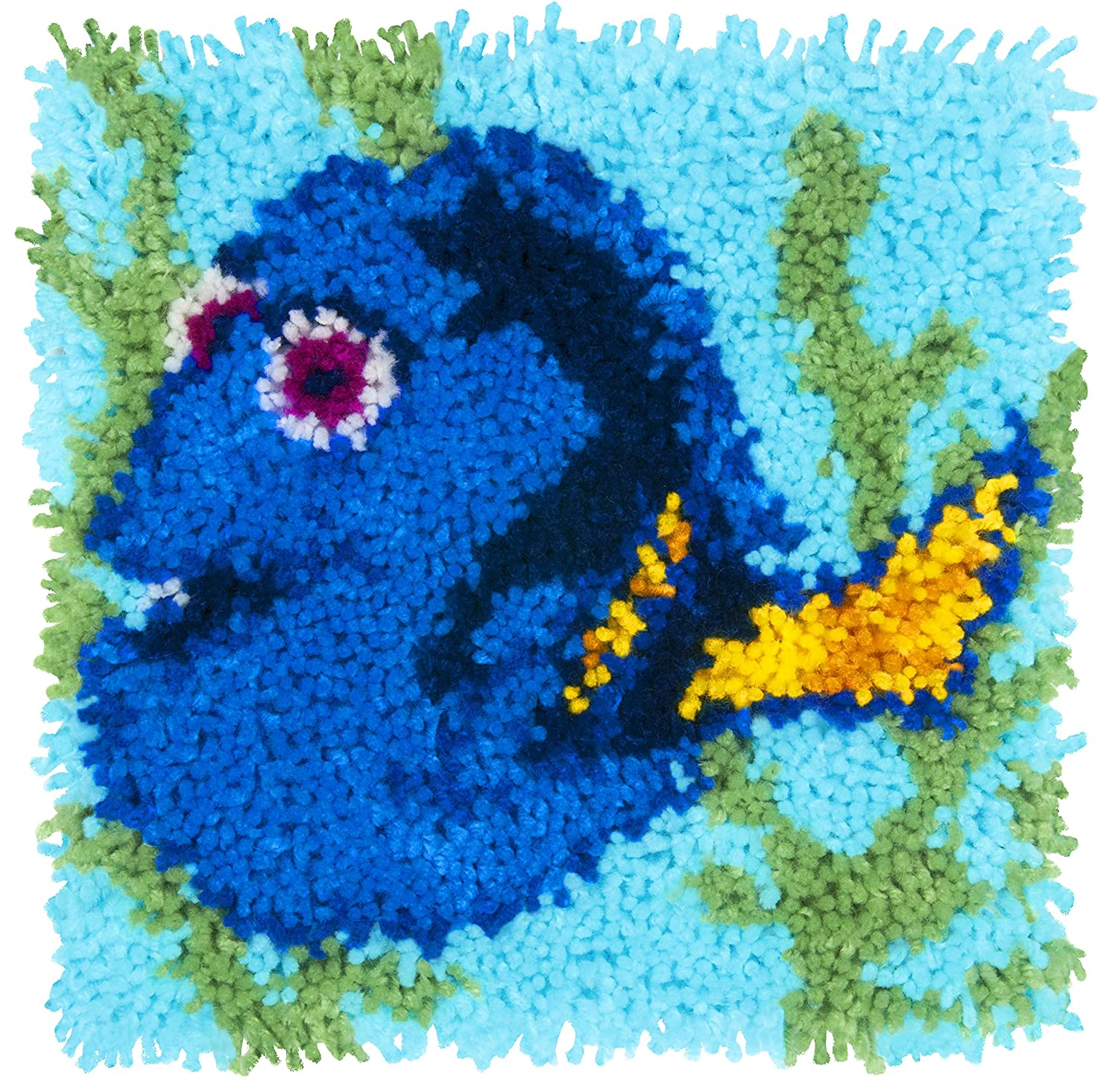 12 x 12 Dimensions Disney Finding Nemo Dory Latch Hook Craft Kit for Kids