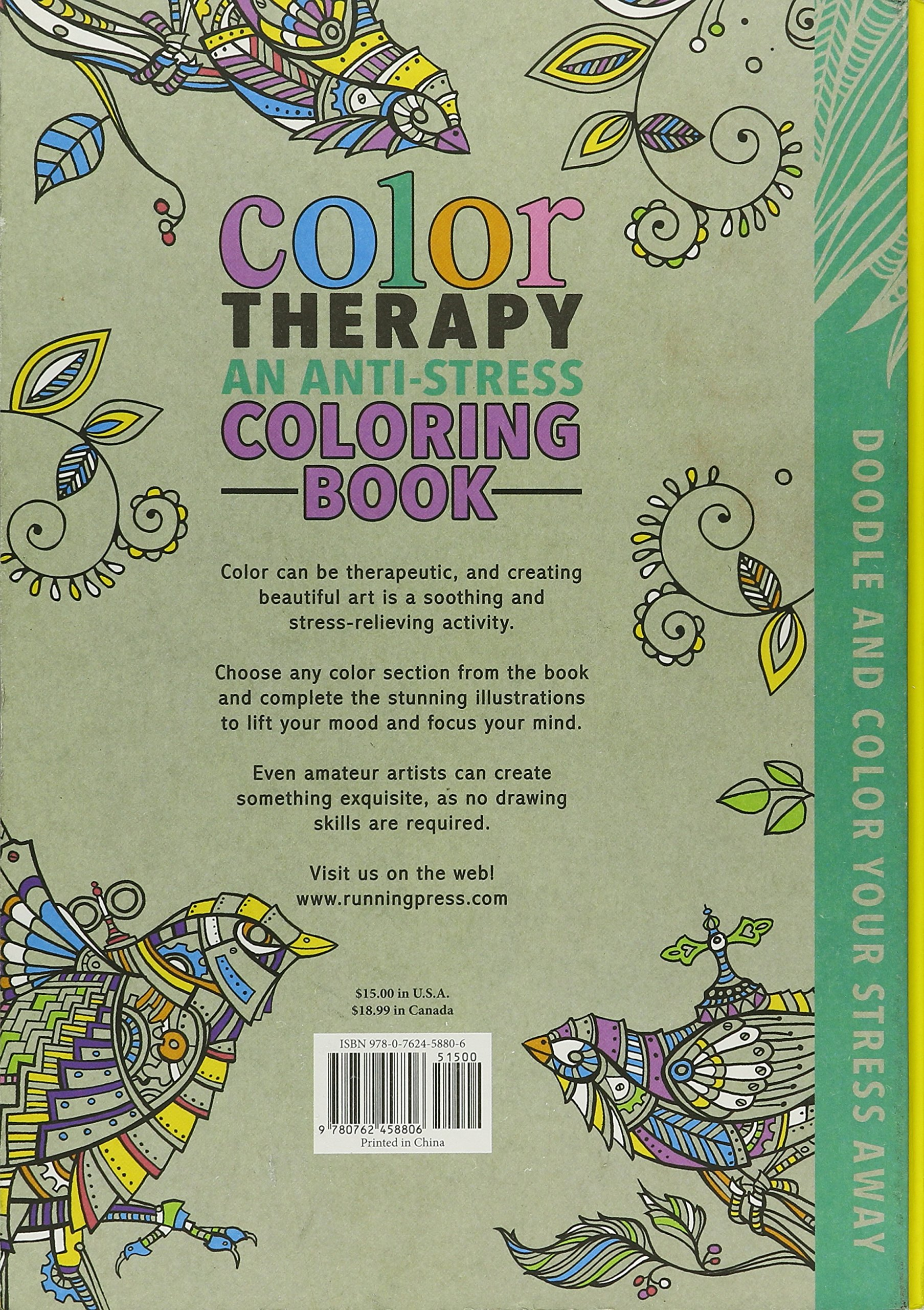 Amazon Color Therapy An Anti Stress Coloring Book Cindy Wilde Laura Kate Chapman Richard Merritt Books