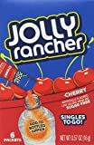 Jolly Rancher Singles to Go Drink Mix, Cherry, 6 Count (Pack of 12)