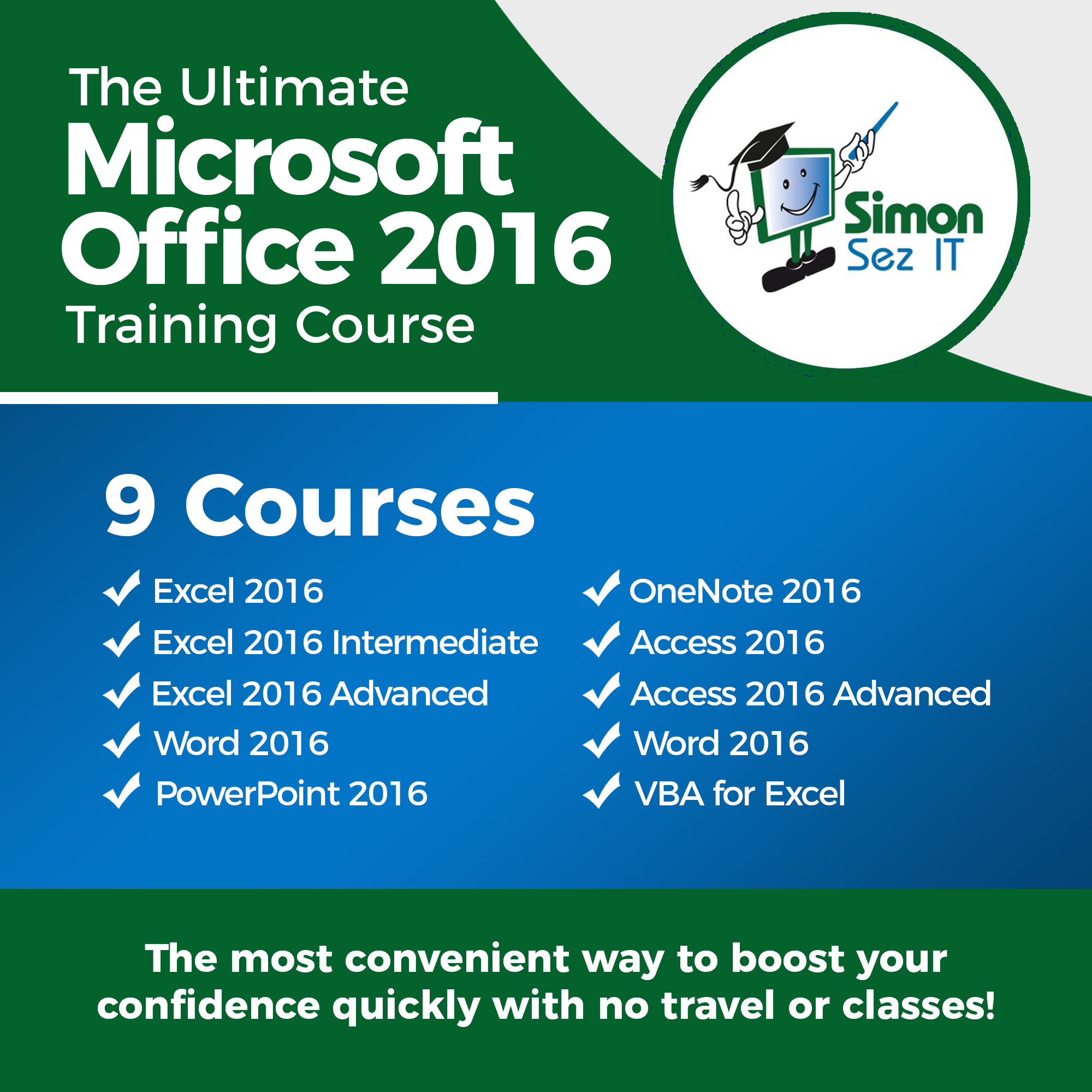 Amazon The Ultimate Microsoft Office 2016 Training Bundle 9 In